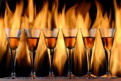 Free Flaming Cocktails Royalty Free Stock Photography - 32932117