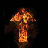 Flaming Directional Arrow Royalty Free Stock Photography