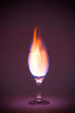 Flaming drink Royalty Free Stock Photos