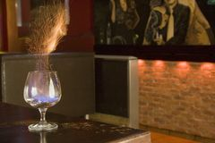 Flaming drink Stock Photography