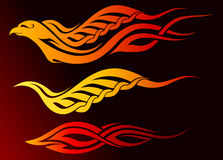 Flaming eagle tattoo. An illustration of tribal eagle tattoo Royalty Free Stock Photography