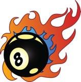 Flaming Eightball vector illustration. Fully editable Stock Photos