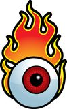 Flaming Eyeball Stock Photo