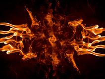 Flaming fingers Royalty Free Stock Photos