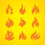 Flaming fire theme. Flaming burn fire theme  art illustration Stock Photography