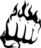 Flaming Fist Stock Image
