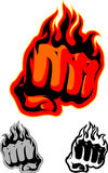 Flaming Fist Art Royalty Free Stock Image