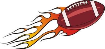 Flaming Football Royalty Free Stock Photography