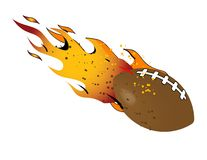 Flaming Football! Stock Image
