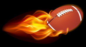 Flaming Football Ball Stock Photos
