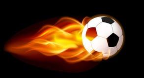 Flaming Football Ball Royalty Free Stock Photo