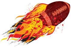 Flaming football Stock Photos