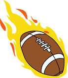 FLAMING FOOTBALL Stock Images