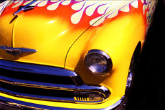 Flaming Front... Old Hot Rod with very cool flames Royalty Free Stock Photo