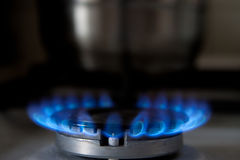 Flaming gas Royalty Free Stock Photos
