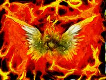 Flaming God Royalty Free Stock Photos