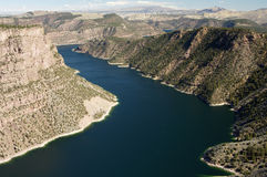 Flaming Gorge. View of Flaming Gorge reservoir from an observation deck Royalty Free Stock Images