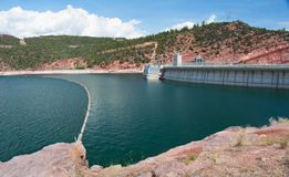 Flaming Gorge Dam. The Flaming Gorge Dam on the Green River in northwestern Colorado, United States Royalty Free Stock Photography