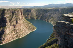 Flaming Gorge lake. View of Flaming Gorge reservoir from an observation deck Stock Image
