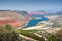 Flaming Gorge National recreation area and the Green river, Utah Stock Image