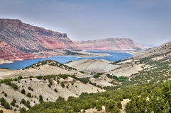Flaming Gorge National recreation area and the Green river, Utah. USA Royalty Free Stock Photography