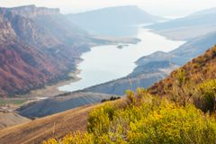 Flaming Gorge. Recreation area Stock Image