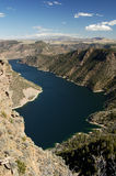 Flaming Gorge reservoir. View of Flaming Gorge reservoir from an overlook platform Stock Photography