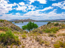Flaming Gorge Reservoir. Flaming Gorge National Recreation Area located between Utah and Wyoming, a reservoir on the Green River, created by Flaming Gorge Dam royalty free stock photo