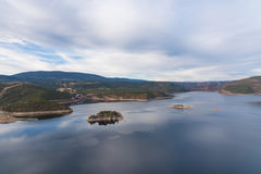 Flaming Gorge Reservoir. The Flaming Gorge Reservoir near the Wyoming Utah border stock images