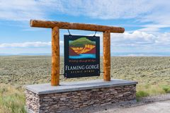 Flaming Gorge Scenic Byway Sign royalty free stock images