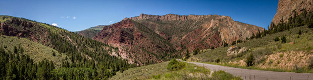 Flaming gorge. View on the Flaming Gorge basin, Utah royalty free stock photography