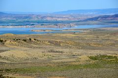 Flaming gorge. View to flaming gorge reservoir in Utah and Wyoming, fed by green river royalty free stock photo