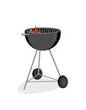 Flaming Grill. A graphic illustration of a barbecue grill. The vector file is in AI-EPS8 format Royalty Free Stock Images
