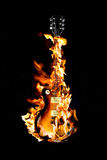 Flaming guitar royalty free stock images