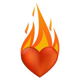 Flaming heart Royalty Free Stock Image