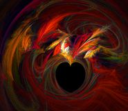 Flaming Heart Stock Photography