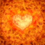 Flaming heart. Background with flaming heart. 3d illustration Stock Images