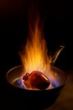 Flaming heart. Royalty Free Stock Photography