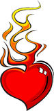 Flaming Heart. Design Vector Artwork Stock Photo