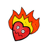 flaming heart cartoon character Stock Photo