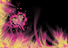 Flaming Heart Splatter Royalty Free Stock Photo