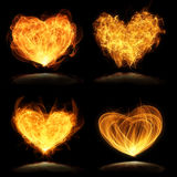 Flaming hearts Royalty Free Stock Images
