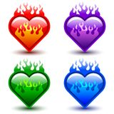Flaming hearts Royalty Free Stock Photos