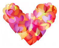 Flaming Hearts Stock Images
