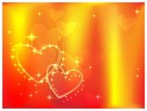 Flaming hearts Royalty Free Stock Image