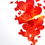 Flaming hearts fly up. Stock Photography