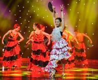 Flaming ---Hiszpański Krajowy taniec Zdjęcie Royalty Free