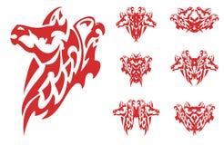 Flaming horse and eagle symbols Royalty Free Stock Photos