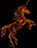 Flaming horse illustration Royalty Free Stock Photo