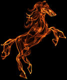 Flaming horse illustrtaion Stock Photos